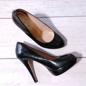 Ted Baker Black Peep Toe Pumps